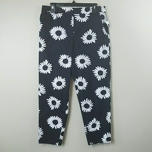 NWT GAP Daisy Print Cropped Ankle Pants